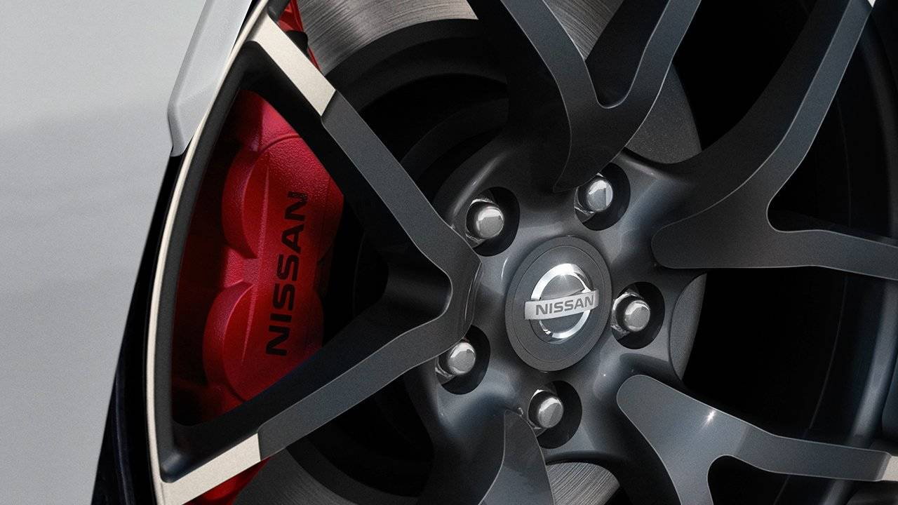 2017 Nissan 370Z Coupe Nissan Sport Brakes with 4-Piston Front Calipers