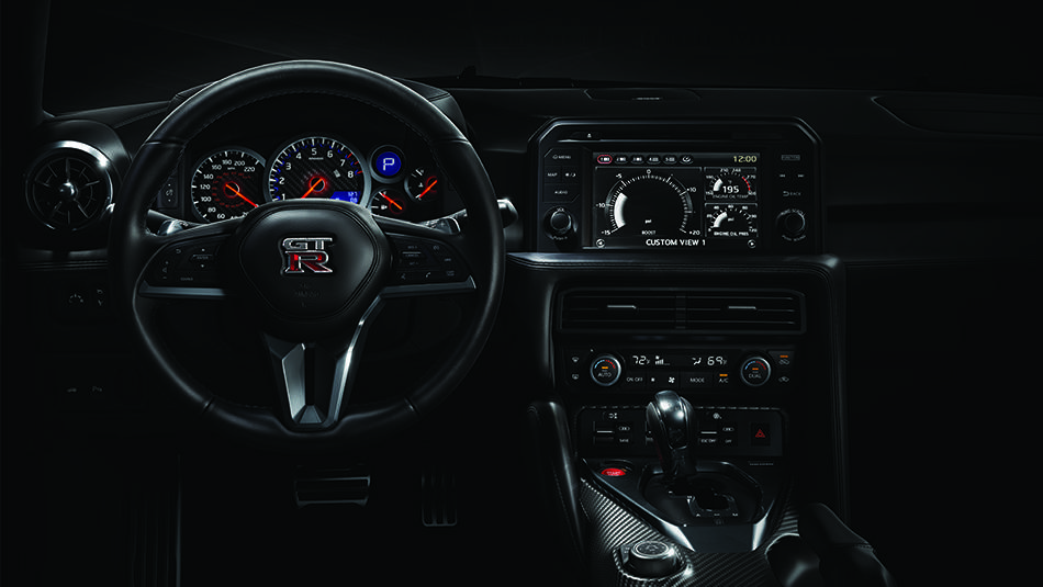 2017 Nissan GT-R Driver-configurable Multi-Function Display system