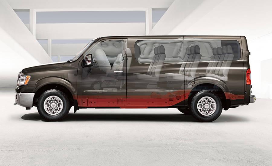2017 Nissan NV Passenger Impact Zones