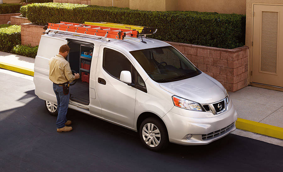 2017 Nissan NV200 Compact Cargo Rooftop mounting points