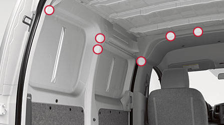 2017 Nissan NV200 Compact Cargo Integrated reinforced cargo mounting points