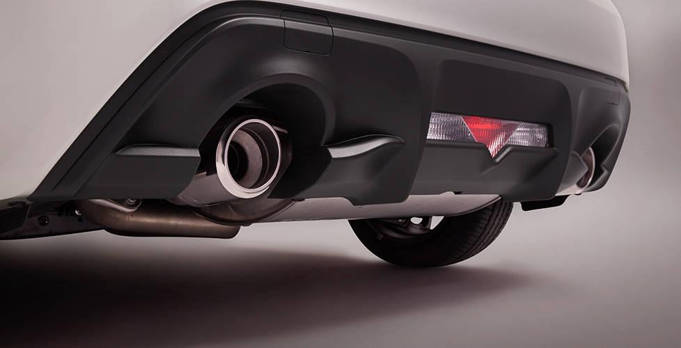 2017 Toyota 86 Chrome-tipped dual exhaust