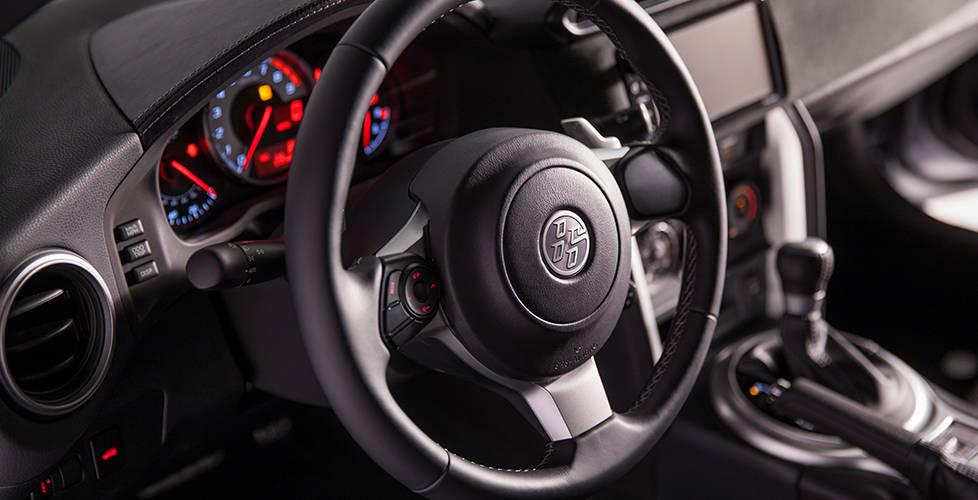 2017 Toyota 86 Sport steering wheel with audio controls