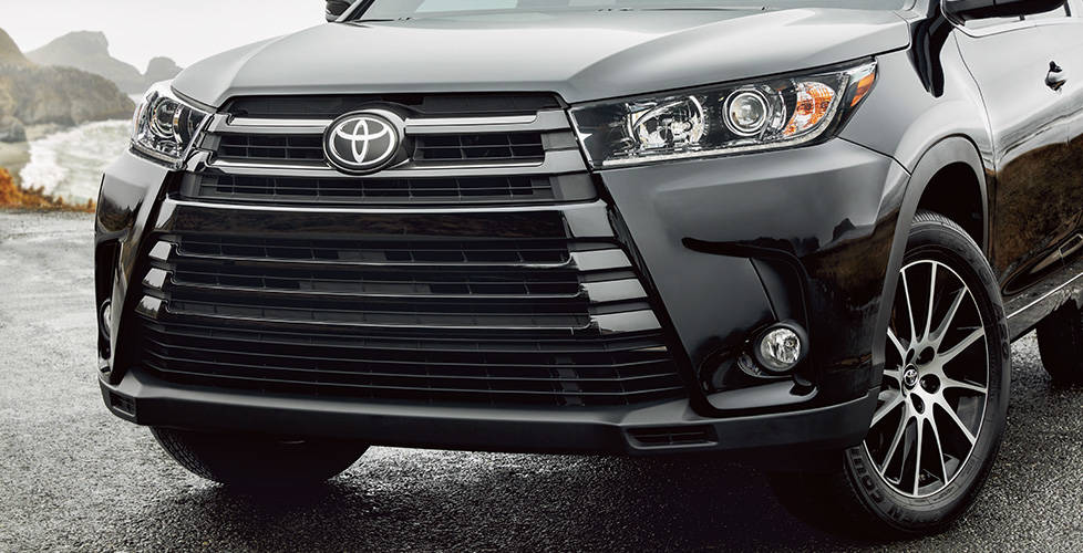 2017 Toyota Highlander New front fascia