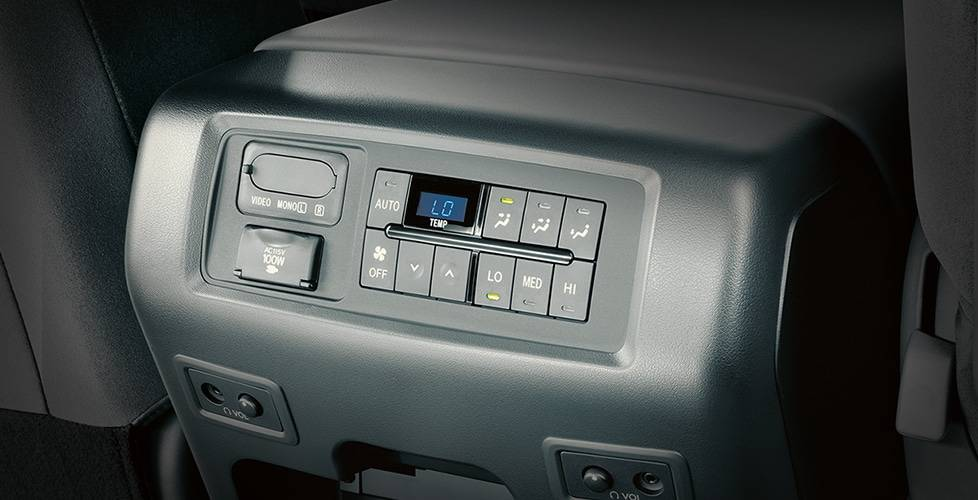 2017 Toyota Sequoia Second-row climate controls