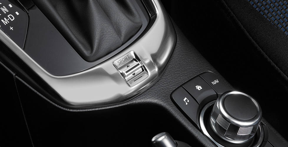 2017 Toyota Yaris iA Sport Mode button