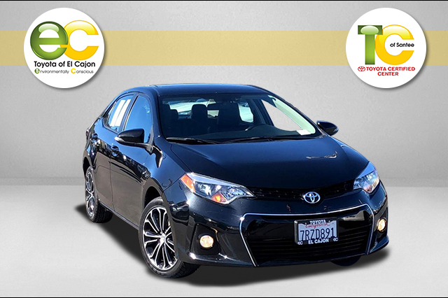 Used 2016 Toyota Corolla S Plus 4d Sedan 17 500 00 Vin 5yfburhexgp419376toyota Certified Center Of Santee New And Dealer Serving