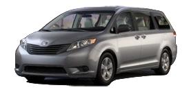 New 2012 Toyota Sienna 7 Passenger 4-cylinder